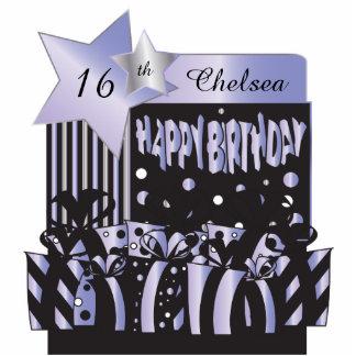 Personalize Birthday Girl in Elegant Purple Photo Cutout
