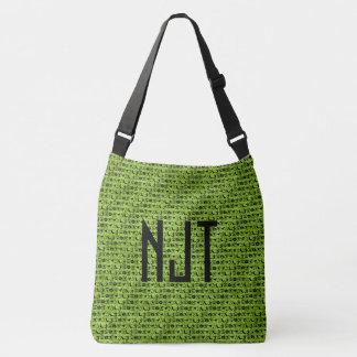 Personalize: Black and Green Halloween Font Art Crossbody Bag