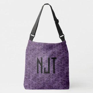 Personalize: Black and Purple Halloween Font Art Crossbody Bag