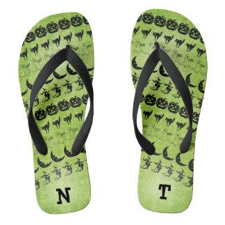 Personalize: Black/Green  Halloween Font Art Thongs