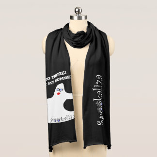 """Personalize: """"Boo There"""" Halloween Diva Ghost Scarf"""