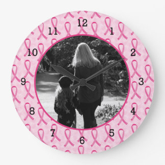 Personalize Breast Cancer Memorial Wallclocks