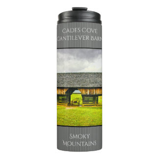 Personalize Cades Cove Cantilever Barn Photography Thermal Tumbler