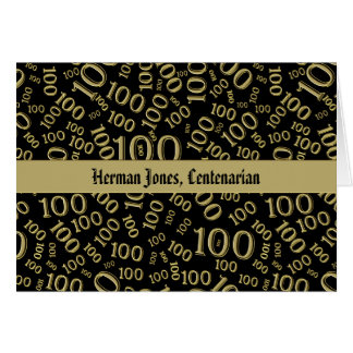 Personalize:  Centenarian, 100th Birthday Theme Card