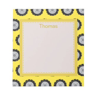 Personalize Construction themed Notepad