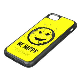 Personalize Cool Stained Happy Smiley face Yellow OtterBox Symmetry iPhone 8/7 Case