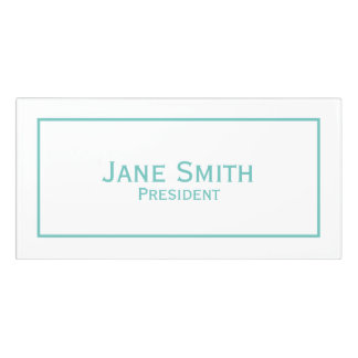 Personalize: Corporate Minimal Teal and White Door Sign