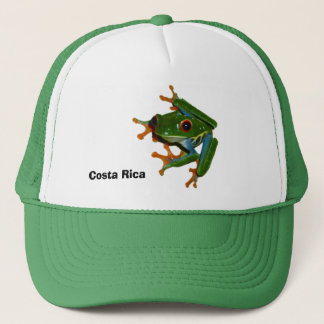 Personalize Costa Rica Red Eyed Frog Trucker Hat