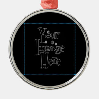 ♪♫♪ PERSONALIZE - CREATE YOUR OWN Silver-Colored ROUND DECORATION
