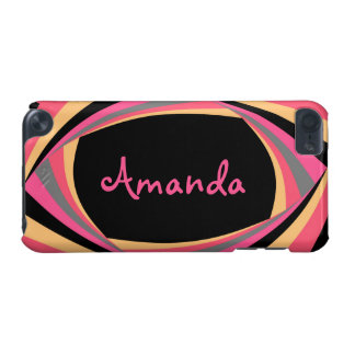 Personalize CUTE Pink Yellow Black Stylish Chic iPod Touch (5th Generation) Cover