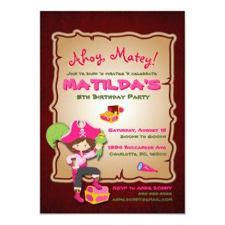 Personalize Cute Pirate Birthday Invitation