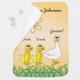 Personalize Duck, Duck, Goose Baby Blanket