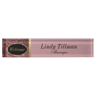 Personalize, Dusty Rose Name Plate