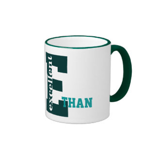 Personalize E name and monogram, Excellent Ringer Mug