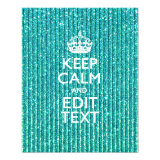 Personalize Easily KEEP CALM AND Edit Text Flyer