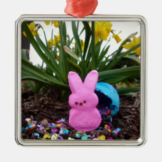 Personalize Easter Bunny Peace Love Art Destiny Ornament