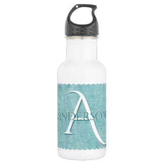 Personalize: Faux Aqua Chenille Textured Look 532 Ml Water Bottle