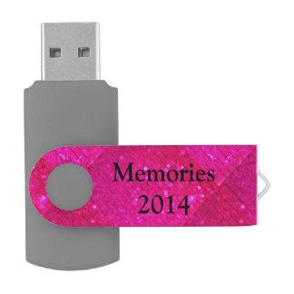 Personalize..faux Glitter Swivel USB 2.0 Flash Drive