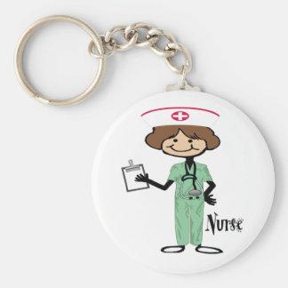 Personalize Female Nurse Key Ring