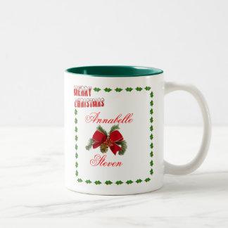 Personalize First Christmas Wedding Anniversary Mug