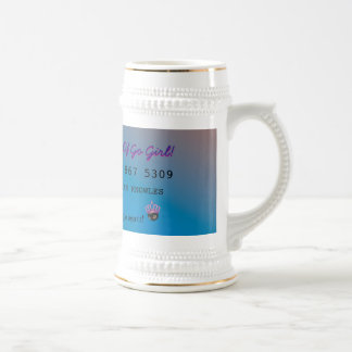 Personalize First Divorce Credit Card Beer Stein