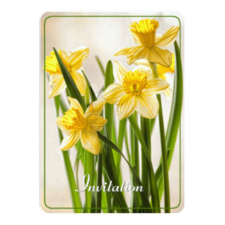 Personalize:  Floral Photography Yellow Daffodils Card