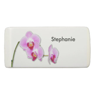 Personalize: Flower Pic Minimal Radiant Orchid Eraser