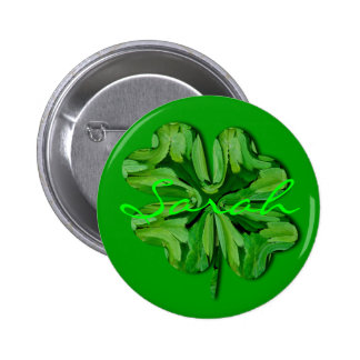 Personalize Four Leaf Clover with Name Buttons
