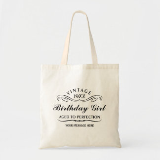 Personalize Funny Birthday Canvas Bags