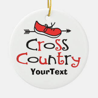 PERSONALIZE Funny Cross Country Runner Shoe Arrow Christmas Tree Ornaments