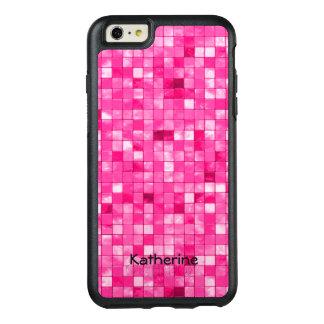 Personalize: Girly Fuchsia Decorative Tile Pattern OtterBox iPhone 6/6s Plus Case