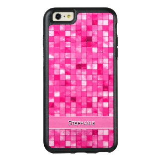 Personalize: Girly Fushsia Decorative Tile Pattern OtterBox iPhone 6/6s Plus Case