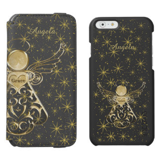 Personalize: Gold/Black Christmas Angel of Grace Incipio Watson™ iPhone 6 Wallet Case