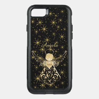 Personalize: Gold/Black Christmas Angel of Grace OtterBox Commuter iPhone 8/7 Case