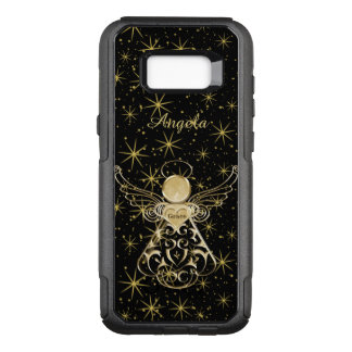 Personalize: Gold/Black Christmas Angel of Grace OtterBox Commuter Samsung Galaxy S8+ Case