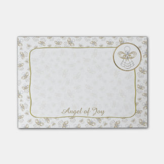 """Personalize:  Golden Christmas """"Angel of Joy"""" Post-it® Notes"""