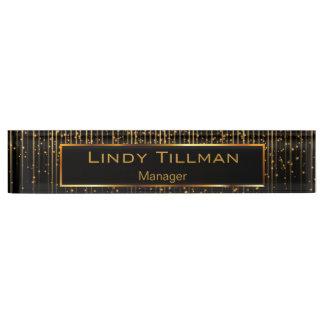 Personalize, Golden Star Light String & Black Name Plates