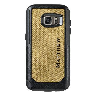 Personalize:  GoldenFaux Basket Weave Pattern OtterBox Samsung Galaxy S7 Case