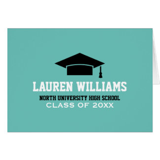 Personalize Graduation Note Cards | Grad Cap