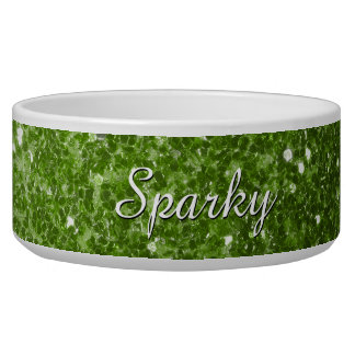 Personalize Greenery Green glitter sparkles
