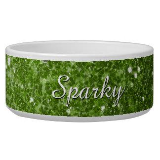 Personalize Greenery Green glitter sparkles pet