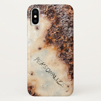 Personalize grunge cool brown rusty metal texture iPhone x case