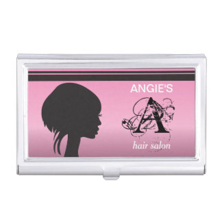 Personalize Hair Salon Stylist Business Card Holder
