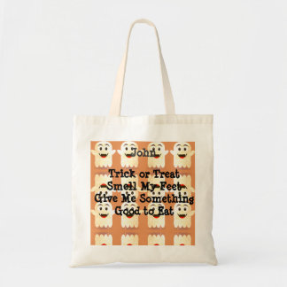 Personalize Halloween Ghost Tote