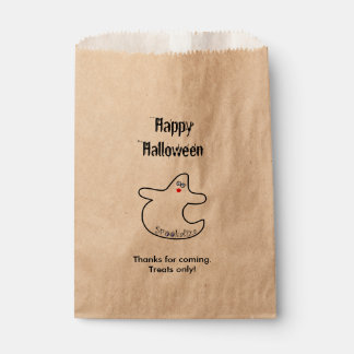 Personalize Happy Halloween Diva Ghost Favour Bag