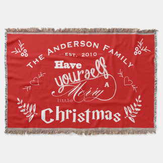 Personalize Have Yourself Merry Little Christmas Throw