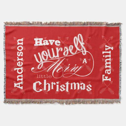 Personalize Have Yourself Merry Little Christmas Throw Blanket