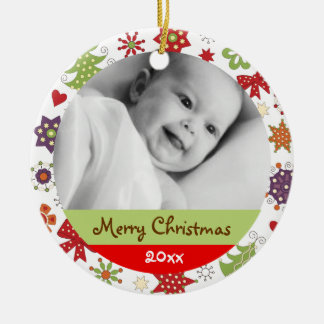 Personalize Holiday Greetings Ornament