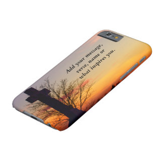 (Personalize) Holy Cross at Sunset Barely There iPhone 6 Case