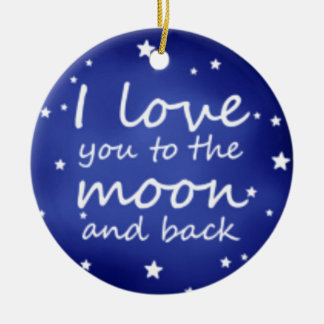 Personalize I love you ornament add names message